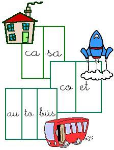 Contando las sílabas que forman una palabra - en español.