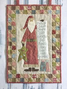 Santa's Checklist - by The Birdhouse -  Quilted wallhanging Pattern
