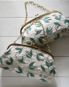 Lily of the Valley purse