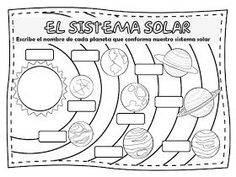 Fichas de Primaria: El sistema solar Solar System Worksheets, Solar System Activities, Solar System Projects, Science Activities For Kids, English Activities, Science Art, Social Science, Science Projects, Solar System Coloring Pages