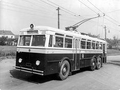 Trolejbus - Praga TOT, Praha, 30. léta Busse, Rally Car, Transportation, Public, Around The Worlds, Urban, Cars, Prague, Autos