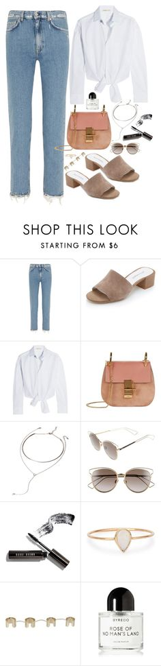 """""""Untitled #1679"""" by samikayy76 on Polyvore featuring Acne Studios, Jeffrey Campbell, Maje, Chloé, Forever 21, Christian Dior, Bobbi Brown Cosmetics, Catbird, Maison Margiela and Byredo"""