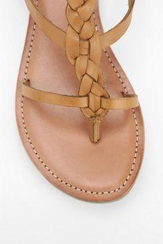 Seychelles Sage Braided T-Strap Sandal
