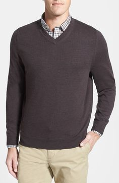Nordstrom Merino Wool V-Neck Sweater available at #Nordstrom