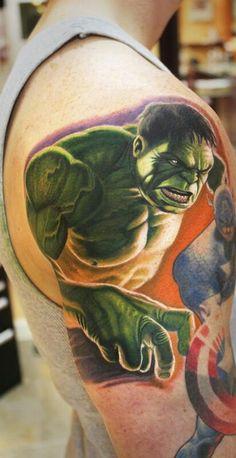 #Hulk Tattoo by Steve Wimmer #InkedMagazine #Inked