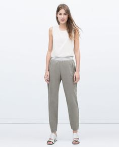 Image 1 of TROUSERS WITH WAISTBAND from Zara
