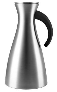 Eva Solo Isolierkanne hoch 1 l Conservation, Scandinavian, Vase, Dimensions, Design, Home Decor, Steel, Drinking, Decoration Home