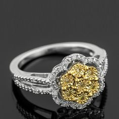 These awesome sunglo yellow diamonds would go great with floral prints for summer!