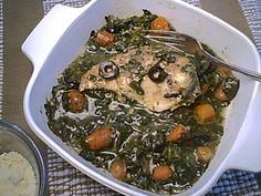 I like an easy chicken dinner that cooks the vegetables right in the skillet, like these boneless chicken breasts sauteed with spinach and parmesan...