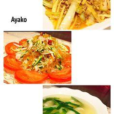 今日は、中華料理〜(≧∇≦) - 104件のもぐもぐ - 麻婆白菜、中華くらげのサラダ、海老ワンタンスープ by ayako1015