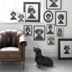 These beautiful Tillsammans posters by Swedish designer Lisa Bengtsson make a lovely addition for any dog lover's home.