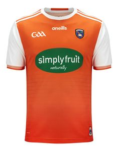 Adults Armagh GAA Home Jersey 2019 The official Armagh Home Jersey is a must-have for every fan. Made from high-performance fabric that moves with you effortlessly. Featuring classic white 3 Stripes on the sleeves, the Armagh crest on the chest, and sponsor branding on the centre front. Product Features Crewneck with short sleeves Moisture-wicking fabric keeps you dry Bright orange body with contrast white sleeves Simplyfruit branding across the chest Three stripes on the shoulders, size XL Armagh, Orange Bodies, Football Kits, Classic White, Centre, Contrast, Short Sleeves, Stripes, Branding