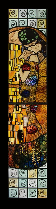The Spiritual Kiss inspired by Gustav Klimt