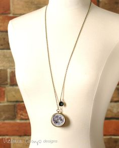Moon and Stars Working Compass and Locket by VictoriaCampDesigns, $50.00