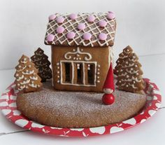 Delightful Scandinavian-style Gingerbread House
