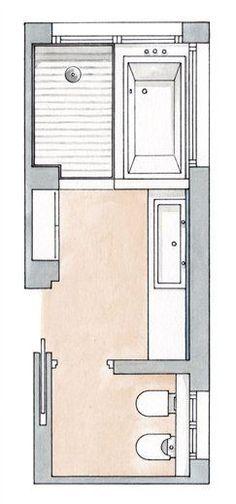 Bathroom Closet Combo Decorating Ideas 68 Ideas For 2019 - Bathroom Magazine - - Ley Straker - Bathroom Layout Plans, Bathroom Floor Plans, Laundry Room Bathroom, Bathroom Toilets, Bathroom Renos, Bathroom Colors, Bathroom Flooring, Laundry Rooms, Bathroom Renovations
