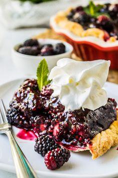 Fresh Blackberry Glace Pie