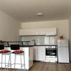 Zväčšiť: Prenajmem 2-izbový byt Kitchen Cabinets, Table, Furniture, Home Decor, Decoration Home, Room Decor, Cabinets, Tables, Home Furnishings
