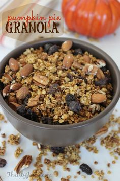 This easy pumpkin pie granola recipe is perfect for a fall breakfast, in yogurt parfaits or as an ice cream topping.