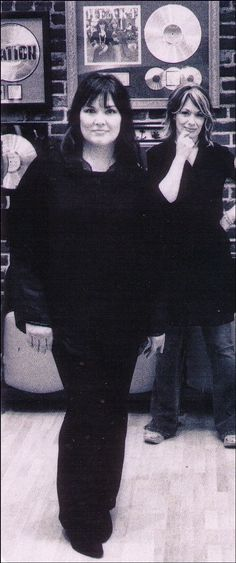 Ann & Nancy in the Studio  Description:  Ann and Nancy in Los Angeles studio taking a break during the recording sessions for Jupiter's Darling.