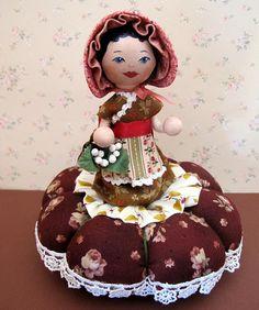 Clothespin pincushion doll