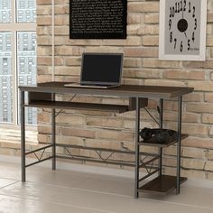 Spacious desktop provides plenty of workspace, perfect size for use in the home or office .