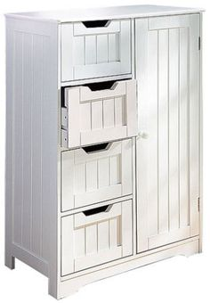 Wooden-Storage-Cabinet-Cupboard-Four-Drawers-White-Freestanding-Unit - price £60 each - 10% off if you buy 2.   Bedside cabinets?