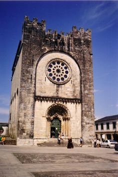 Iglesia en Portomarin - Unusual Buildings, The Camino, Spain And Portugal, Iglesias, Place Of Worship, Romanesque, Pilgrim, Big Ben, Places To Go