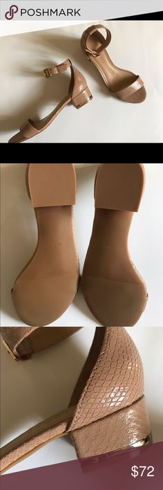 "🆕 NWOT Talbots Block Heel Sandals New without tags or box, Talbots tan sandals. Ankle strap & 1"" block heel with gold trim around bottom of the heel. I have these in navy & black & love them, so comfy. There is a minimal flaw from storage, scratch on heel near gold trim but not noticeable at all (last pic). Clean, non-smokkng home & I package to protect your purchase. Shipping same or next day. Talbots Shoes Sandals"