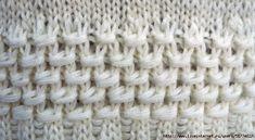 Интересный плотный узор спицами. Схема вязания