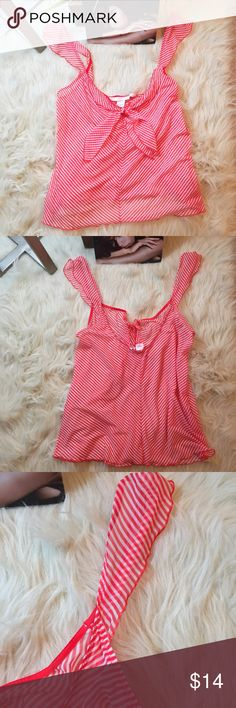 "Classic rare Victoria's secret 2004 lingerie top Perfect new condition. Sheer scalloped edge top with fly away ruffle sleeves. Little tie in the front. I love old school VS pieces! So well made and beautiful. Approx 20"" long. Would be perfect with some white lace bottoms Victoria's Secret Intimates & Sleepwear"