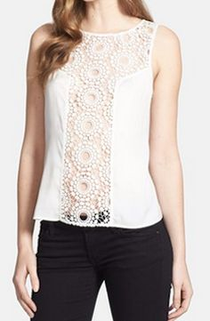 Pretty crochet lace shell @Nordstrom http://rstyle.me/n/gyqcdnyg6