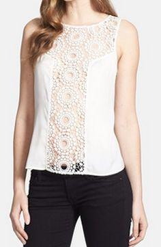 Pretty crochet lace shell @Nordstrom http://rstyle.me/n/gyqcdnyg6