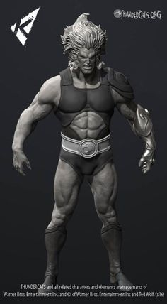 Work in progress image of Lion-O from the team at Kinetiquettes.com for their diorama styled statue line.