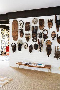 máscara tribales africanas en la decoración de interiores