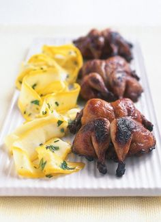 Quail Although this started off life as a summer recipe, I can't stop eating these juicy birds even when the air's chill.Although this started off life as a summer recipe, I can't stop eating these juicy birds even when the air's chill. Quail Recipes, Duck Recipes, Egg Recipes, Other Recipes, Cooking Recipes, Game Recipes, Chicken Recipes, Spatchcock Chicken, Meat Recipes