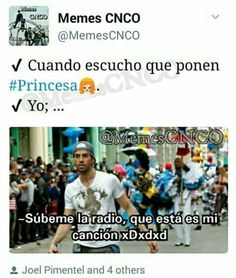 Memes CNCO | It's great because I love both those songs!Estan mis canciones! ❤