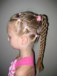 I love this hair style. Wish I would have had it for My baby girl when she was a youngster. At 21 Y/O, I dont thiink she would sit for it. Oh well, will have to wait for a granddaughter :)