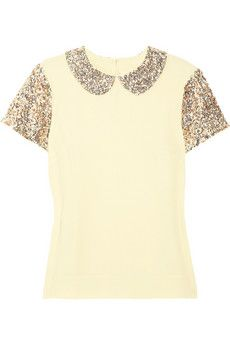 ilyas sequined crepe top