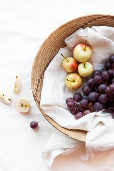 Grapes and Heirloom Apples | My Blue & White Kitchen