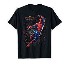 Marvel Spider Strike T-T-shirt Uomo