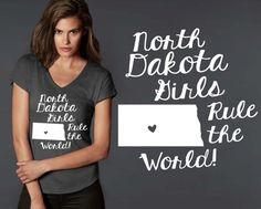 North Dakota Girls T-shirt | North Dakota State