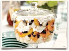 ... just love them) on Pinterest | Trifles, Blueberry Trifle and Peaches