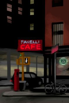 Corner Cafe, by Jorge Colombo- 20x200 (from $24)
