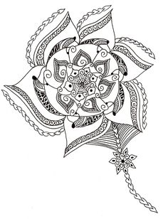 pinwheel flower zentangle