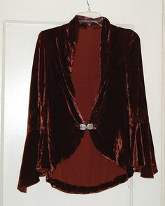 Vintage Vamp1920s 30s Silk Velvet Jacket w by LolaAndBlack on Etsy, $sold