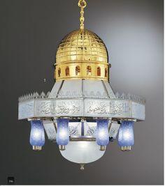 Ottoman Brass Blue Ancient China, Light Art, Lampshades, Decorative Accessories, Chandeliers, Islamic, Oriental, Ottoman, Brass