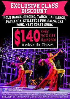 50% off Classes with Actfa:  www.actfa.com @Actfa #Actfa #Dance #DanceSingapore #Salsa #SalsaSingapore #actfasingapore #bachata #tango #hiphop #jazz #ballet #chacha #dance #contemporary #swing #kizomba #zouk #stilettos #pachanga #wcs