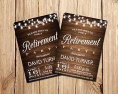 RETIREMENT INVITATION Retirement Invitation by DigitalLine on Etsy
