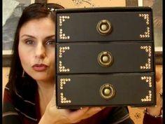 DIY cajonero para maquillaje( recycling drawer Makeup ) - YouTube